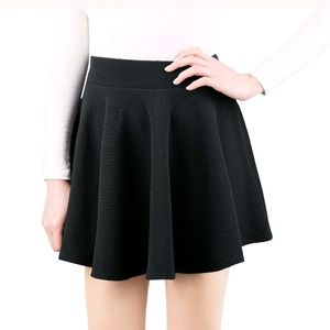Dresses & Skirts - Basic Flared Skater Skirt- 2XL-Charcoal